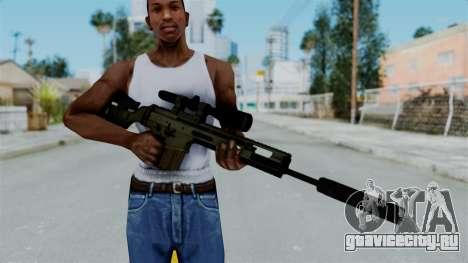 SCAR-20 v2 Supressor для GTA San Andreas третий скриншот