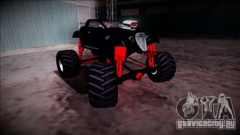 GTA 5 Hotknife Monster Truck для GTA San Andreas вид сбоку