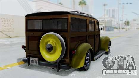Ford V-8 De Luxe Station Wagon 1937 Mafia2 v2 для GTA San Andreas вид слева