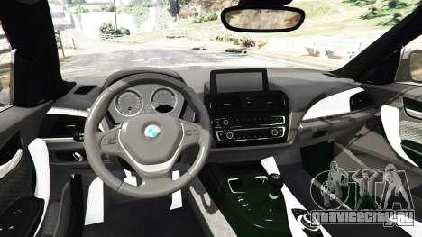 BMW M235i Coupe для GTA 5 вид сзади справа