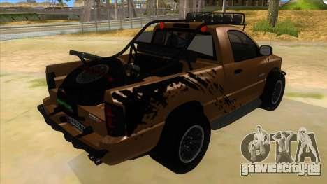 Dodge Ram SRT DES 2012 для GTA San Andreas вид справа