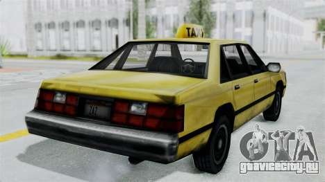 Taxi from GTA Vice City для GTA San Andreas вид справа