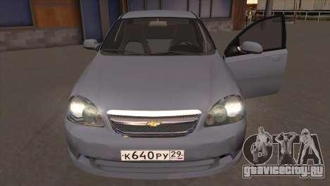 Chevrolet Lacetti Sedan для GTA San Andreas вид сзади