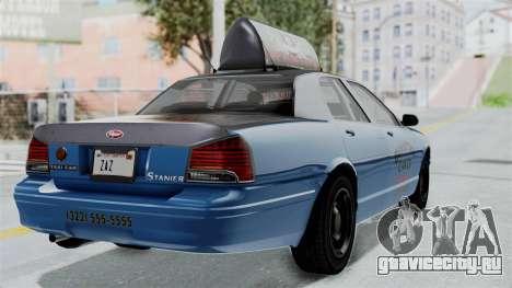 GTA 5 Vapid Stanier II Taxi IVF для GTA San Andreas вид слева