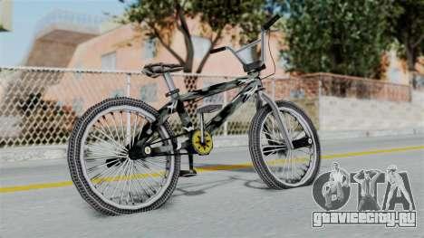 GTA 5 BMX Camo для GTA San Andreas вид сзади слева