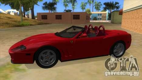 Ferrari 550 Barchetta Pinifarina US Specs 2001 для GTA San Andreas вид слева
