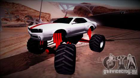 GTA 5 Bravado Gauntlet Monster Truck для GTA San Andreas вид сбоку