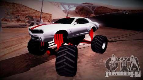GTA 5 Bravado Gauntlet Monster Truck для GTA San Andreas вид сбоку