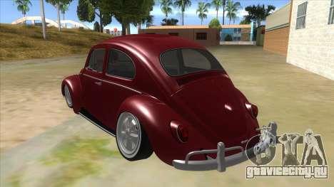 Volkswagen Beetle Aircooled V2 для GTA San Andreas вид сзади слева