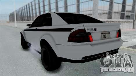 GTA 5 Karin Sultan RS Stock PJ для GTA San Andreas вид изнутри