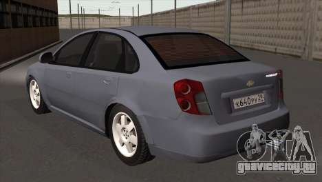 Chevrolet Lacetti Sedan для GTA San Andreas вид слева