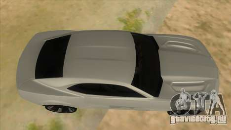 Chevrolet Camaro DOSH tuning MQ для GTA San Andreas вид изнутри