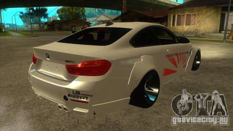 BMW M4 Liberty Walk Performance для GTA San Andreas вид справа