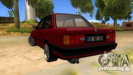 BMW M3 E30 1991 для GTA San Andreas вид сзади слева