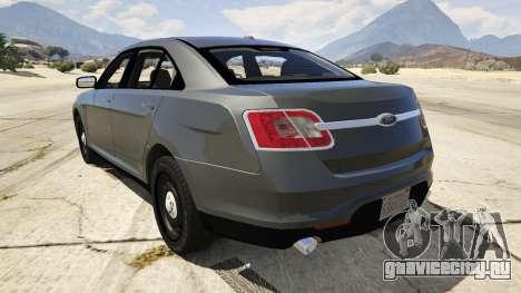 Ford Taurus для GTA 5 вид сзади слева
