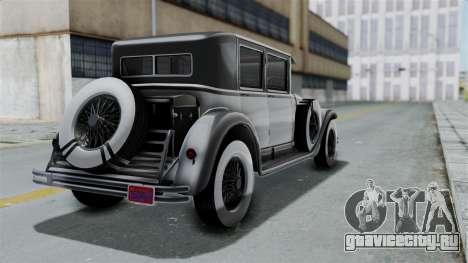 GTA 5 Albany Roosevelt Valor для GTA San Andreas вид слева