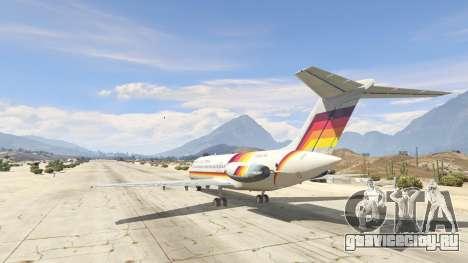 McDonnell Douglas DC-9-15 для GTA 5 третий скриншот