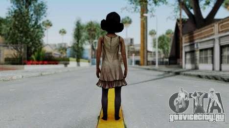 Clementine from The Walking Dead для GTA San Andreas третий скриншот