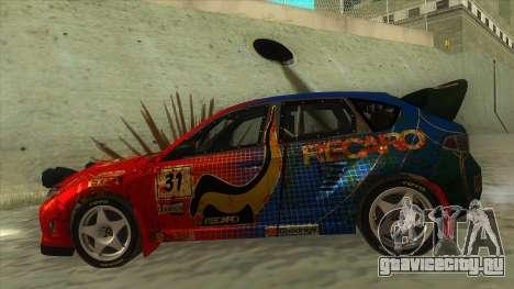 Subaru Impreza WRX STi 2011 Response для GTA San Andreas вид слева