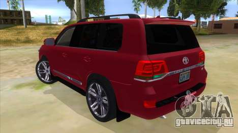 2016 Toyota Land Cruiser 200 V2 для GTA San Andreas вид сзади слева