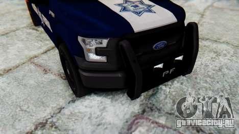 Ford F-150 2015 Policia Federal для GTA San Andreas вид изнутри