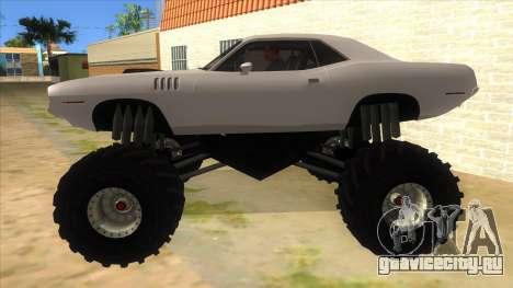 1971 Plymouth Hemi Cuda Monster Truck для GTA San Andreas вид слева