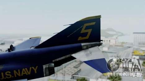 McDonnell Douglas RF-4B Blue Angels для GTA San Andreas вид сзади слева