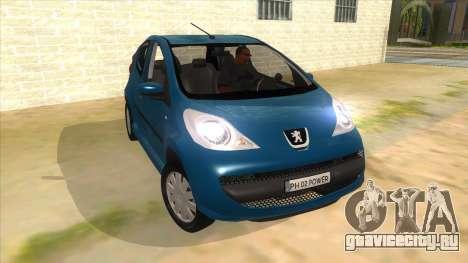 2005 Peugeot 107 V2 для GTA San Andreas вид сзади