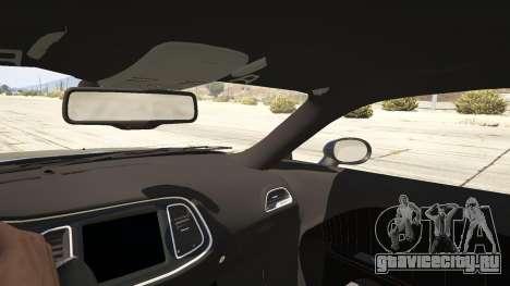 2015 Dodge Challenger для GTA 5 вид сзади справа