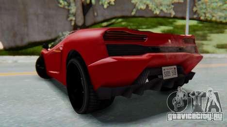 GTA 5 Pegassi Vacca SA Style для GTA San Andreas вид слева