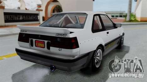 GTA 5 Karin Futo Rally Car v2.0 для GTA San Andreas вид слева