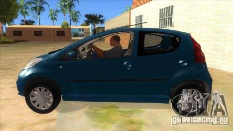 2005 Peugeot 107 V2 для GTA San Andreas вид слева