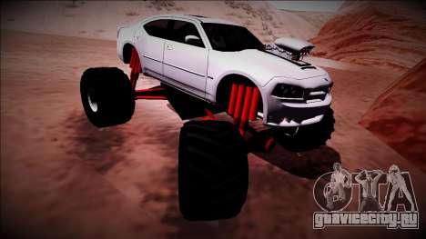 2006 Dodge Charger SRT8 Monster Truck для GTA San Andreas вид снизу