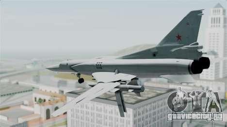 ТУ-22М3 Green для GTA San Andreas вид справа