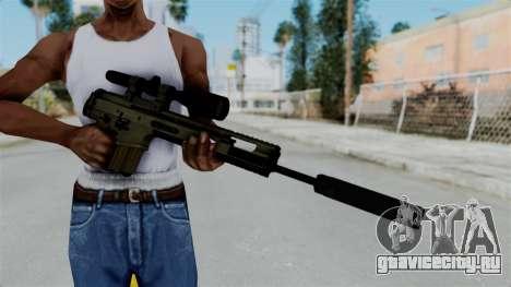 SCAR-20 v1 Folded для GTA San Andreas третий скриншот