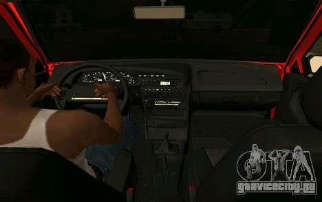 Ваз 2109 Учебный для GTA San Andreas вид сзади слева