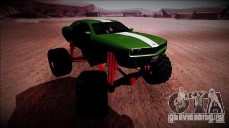 GTA 5 Bravado Gauntlet Monster Truck для GTA San Andreas вид изнутри