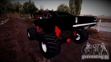 1969 Plymouth Road Runner Monster Truck для GTA San Andreas вид сбоку