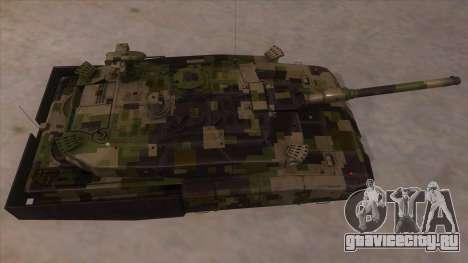 MBT52 Kuma для GTA San Andreas вид изнутри