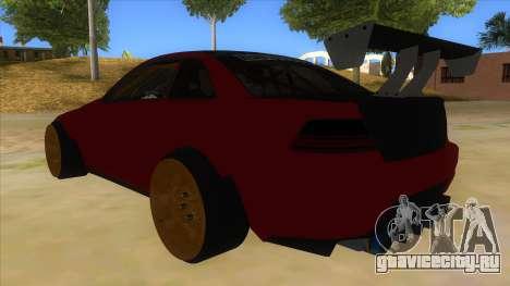 GTA V Sentinel RS MKII для GTA San Andreas вид сзади слева