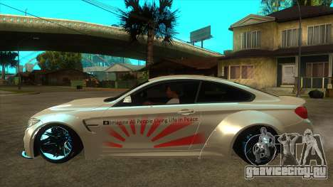 BMW M4 Liberty Walk Performance для GTA San Andreas вид слева