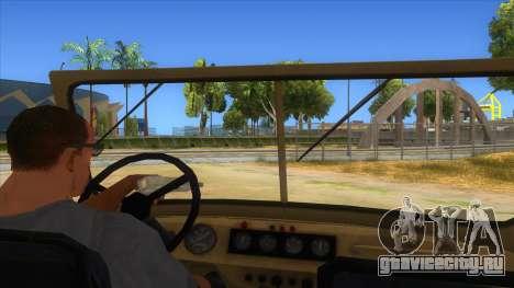 UAZ-469 Desert для GTA San Andreas вид изнутри
