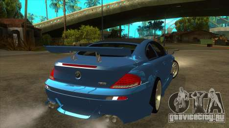 BMW M6 Full Tuning для GTA San Andreas вид справа