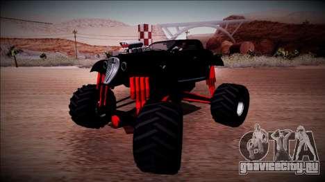 GTA 5 Hotknife Monster Truck для GTA San Andreas вид справа