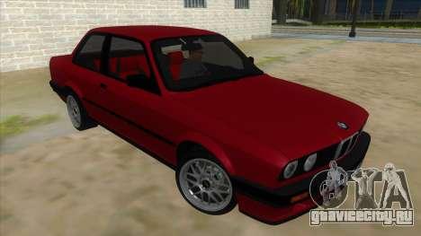 BMW M3 E30 1991 для GTA San Andreas вид сзади
