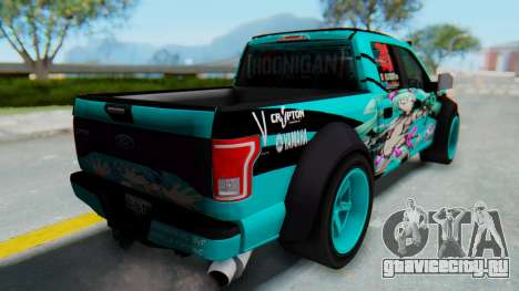 Ford F-150 2015 Drift Gym для GTA San Andreas вид справа