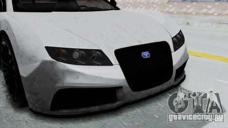 GTA 5 Truffade Adder v2 IVF для GTA San Andreas вид сзади
