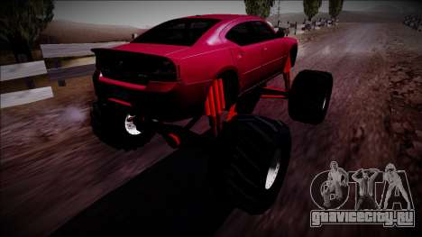 2006 Dodge Charger SRT8 Monster Truck для GTA San Andreas вид слева