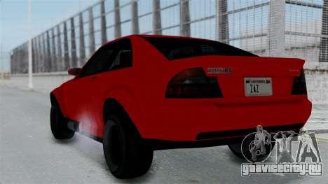 GTA 5 Karin Sultan RS Stock PJ для GTA San Andreas вид слева