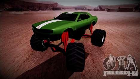 GTA 5 Bravado Gauntlet Monster Truck для GTA San Andreas вид сзади